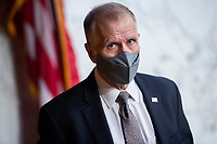 United States Senator Thom Tillis (Republican of North Carolina) attends the US Senate Judiciary Committee executive business meeting on Supreme Court justice nominee Amy Coney Barrett in Hart Senate Office Building on Thursday, October 15, 2020. <br /> Credit: Tom Williams / Pool via CNP /MediaPunch