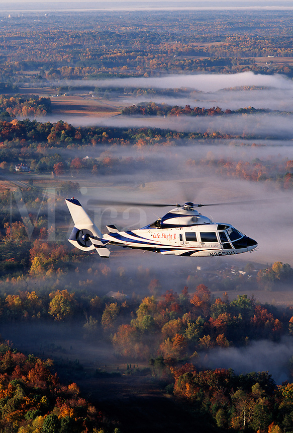 Medical ambulance Helicopter aerial  Durham NC