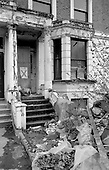 Derelict housing in the Coomassie Housing Action Area, North Paddington, London,1975.