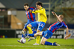Inverness Caley Thistle v St Johnstone....28.03.12   SPL.Fran Sandaza is tackled by Ross Tokley.Picture by Graeme Hart..Copyright Perthshire Picture Agency.Tel: 01738 623350  Mobile: 07990 594431