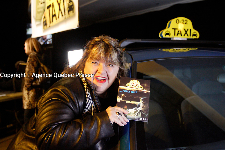 Montreal (Qc) CANADA- November 14, 2007 -<br /> Lise Dion -<br /> Launch of  Taxi 2.20 - season 1  DVD at Bonsecour Market.<br /> <br /> photo (c) Pierre Roussel -   Images Distribution