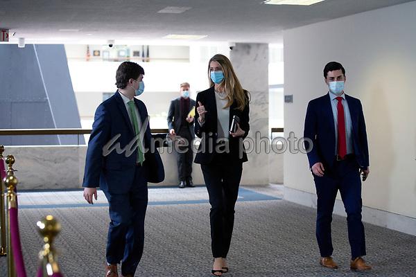 United States Senator Kelly Loeffler (Republican of Georgia) walks to the GOP Policy Luncheons at the Hart Senate Office Building in Washington D.C., U.S. on Thursday, May 21, 2020. Credit: Stefani Reynolds / CNP/AdMedia