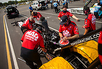 Sep 6, 2020; Clermont, Indiana, United States; Crew members for NHRA top fuel driver Doug Kalitta during the US Nationals at Lucas Oil Raceway. Mandatory Credit: Mark J. Rebilas-USA TODAY Sports