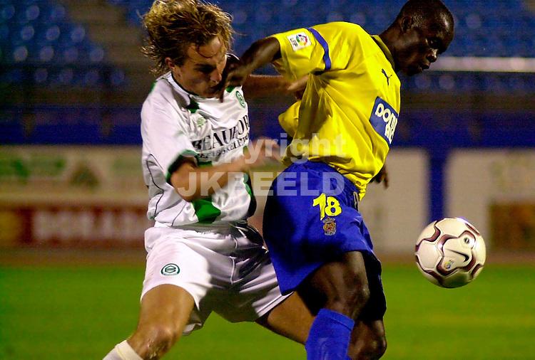 trainingskamp fc groningen gran canaria las palmas-fc groningen seizoen 2002-2003 broerse in duel