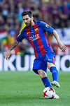 Leo Messi of FC Barcelona in action during the match of  Copa del Rey (King's Cup) Final between Deportivo Alaves and FC Barcelona at Vicente Calderon Stadium in Madrid, May 27, 2017. Spain.. (ALTERPHOTOS/Rodrigo Jimenez)