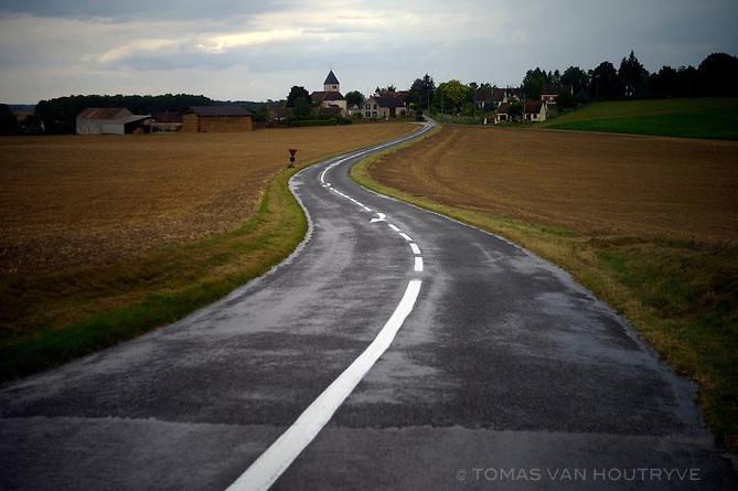 Road scenes in central rural France.