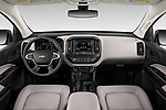 Stock photo of straight dashboard view of 2019 Chevrolet Colorado WT 4 Door Pick-up Dashboard