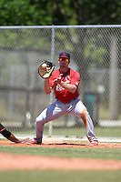 St. Louis Cardinals Justin Ringo (27) during a minor league spring training game against the Miami Marlins on March 31, 2015 at the Roger Dean Complex in Jupiter, Florida.  (Mike Janes/Four Seam Images)