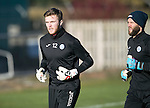 St Johnstone Training…18.11.16<br />Keepers Zander Clark and Alan Mannus pictured during training this morning at McDiarmid Park ahead of tomorrow's game against Ross County<br />Picture by Graeme Hart.<br />Copyright Perthshire Picture Agency<br />Tel: 01738 623350  Mobile: 07990 594431