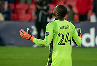 WASHINGTON, DC - MARCH 07: Bill Hamid #24 of DC United gives thanks at the end of the mtch during a game between Inter Miami CF and D.C. United at Audi Field on March 07, 2020 in Washington, DC.
