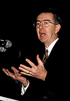 FILE - Preston Manning speak at the Sheraton circa 1993.<br /> <br /> <br />  Photo : Pierre Roussel - Agence Quebec Presse