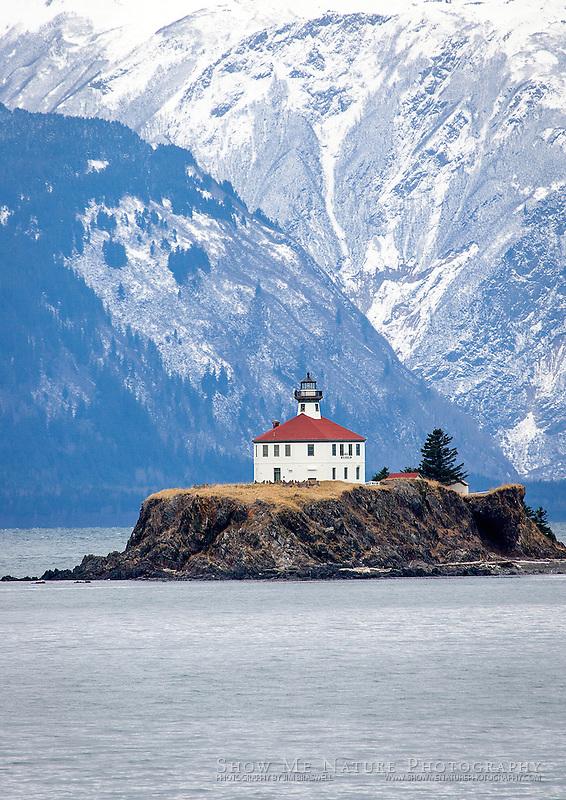 Lighthouse on Alaska's Inside Passage, via ferry