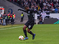 Almamy Touré (Eintracht Frankfurt) - 20.02.2020: Eintracht Frankfurt vs. RB Salzburg, UEFA Europa League, Hinspiel Round of 32, Commerzbank Arena DISCLAIMER: DFL regulations prohibit any use of photographs as image sequences and/or quasi-video.
