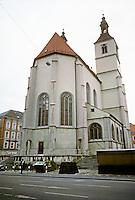 Regensburg: Neupfarkirche--16th C. Protestant Church. Photo '87.