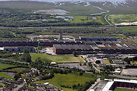 Aerial view of Corus Steelworks near Llanelli west Wales