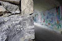 Uno scorcio della Via dell'Amore tra Riomaggiore e Manarola, alle Cinque Terre.<br /> The Via dell'Amore (Love Street) between Riomaggiore and Manarola at the Cinque Terre.<br /> UPDATE IMAGES PRESS/Riccardo De Luca