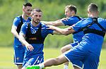 St Johnstone Training….29.06.19   McDiarmid Park, Perth<br />Matty Kennedy and Wallace Duffy<br />Picture by Graeme Hart.<br />Copyright Perthshire Picture Agency<br />Tel: 01738 623350  Mobile: 07990 594431