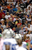 8 October 2007: The ESPN Skycam Camera looks down on the players during a game between the Buffalo Bills and the Dallas Cowboys at Ralph Wilson Stadium in Buffalo, New York. The Cowboys defeated the Bills 25-24 winning their fifth consecutive game of the season...Mandatory Photo Credit: Ed Wolfstein Photo