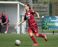 20150808 - ZULTE , BELGIUM : Zulte's Athina Vercaemer pictured during a friendly soccer match between the women teams of Zulte-Waregem and RSC Anderlecht  , during the preparations for the 2015-2016 SUPERLEAGUE season, Saturday 8 August 2015 . PHOTO DAVID CATRY