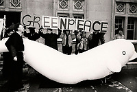 april 1987 File Photo - Montreal (Qc) Canada -greenpeace demonstration