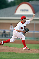 July 19th, 2007:  Josh Fritsche of the Batavia Muckdogs, Short-Season Class-A affiliate of the St. Louis Cardinals at Dwyer Stadium in Batavia, NY.  Photo by:  Mike Janes/Four Seam Images