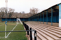 The Spencer Ground, Banbury, Oxfordshire, home of Banbury United Football Club, pictured in 1989 - Gavin Ellis/TGSPHOTO - Self billing applies where appropriate - 0845 094 6026 - contact@tgsphoto.co.uk - NO UNPAID USE.