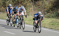 Petr Vakoc  (CZE/Quick-Step Floors) speeding ahead of the group<br /> <br /> Binche-Chimay-Binche 2017 (BEL) 197km<br /> 'Mémorial Frank Vandenbroucke'