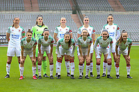 (Back row L to R) Lenie Onzia (8) of OHL, goalkeeper Louise Van Den Bergh (1) of OHL , Hannah Eurlings (9) of OHL, Auke Swevers (4) of OHL, \Amber Tysiak (3) of OHL (front row L to R) Zenia Mertens (6) of OHL, Jill Janssens (7) of OHL, Luna Vanzeir (10) of OHL, Estee Cattoor (11) of OHL, Marie Detruyer (17) of OHL and Marith De Bondt (31) of OHL  pictured during the line up before a female soccer game between RSC Anderlecht Dames and Oud Heverlee Leuven on the seventh matchday of play off 1 of the 2020 - 2021 season of Belgian Womens Super League , saturday 15 th of May 2021  in Brussels , Belgium . PHOTO SPORTPIX.BE | SPP | SEVIL OKTEM