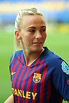 UEFA Women's Champions League 2018/2019.<br /> Semi Finals<br /> FC Barcelona vs FC Bayern Munchen: 1-0.<br /> Toni Duggan.