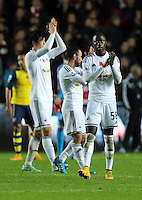 Sunday 09 November 2014 <br /> Pictured: Modou Barrow of Swansea<br /> Re: Barclays Premier League, Swansea City FC v Arsenal City at the Liberty Stadium, Swansea, Great Britain.