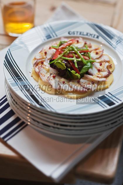 Europe/France/Aquitaine/64/Pyrénées-Atlantiques/Pays Basque/Saint-Jean-de-Luz: Salade de poulpes recette du restaurant Ostalamer