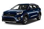2020 KIA Niro More 5 Door Hatchback Angular Front automotive stock photos of front three quarter view