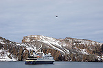 NG Orion & Helicoptor, Decption Island, Antarctica