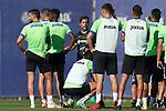 Getafe CF's coach Quique Sanchez Flores with his players during training session. October 6,2021.(ALTERPHOTOS/Acero)