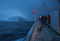 A tourist boat sailing along the Svalbard coast.<br /> <br /> Norway's polar bear population lives in and around Svalbard. Any global warming will affect the around 3000 polar bears in the area. <br /> <br /> <br /> Svalbard (formerly known by its Dutch name Spitsbergen) is a Norwegian archipelago in the Arctic Ocean. Situated north of mainland Europe, it is about midway between continental Norway and the North Pole. <br /> <br /> <br /> (photo: Fredrik Naumann/Felix Features)