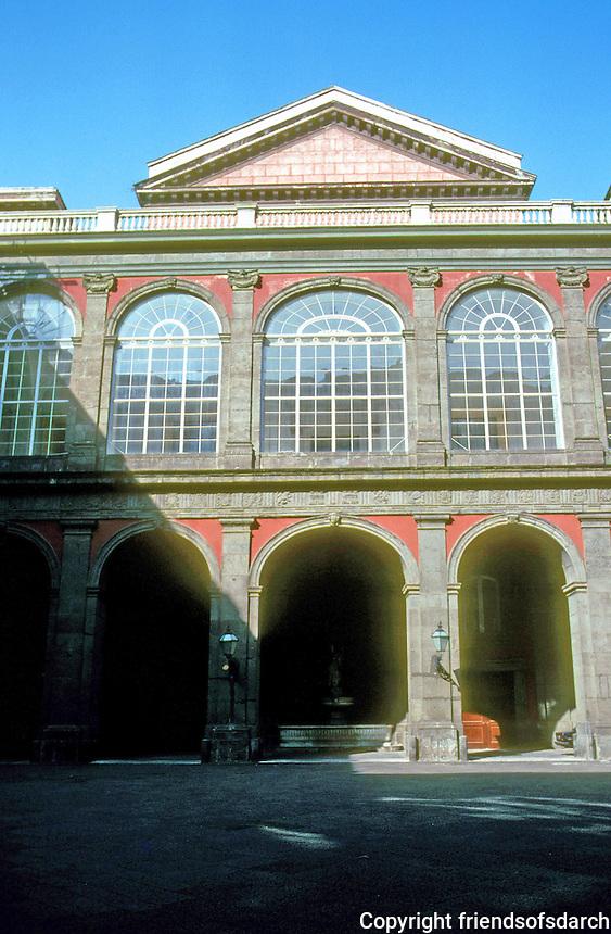 Italy: Naples--Royal Palace, Interior Court. Photo '83.