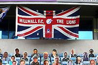 Millwall FC 'The Lions' flag on display during Millwall vs Middlesbrough, Sky Bet EFL Championship Football at The Den on 8th July 2020