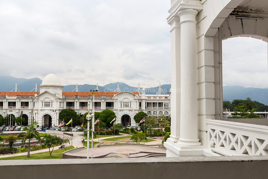 Railway Station from Town Hall Balcony, Ipoh, Malaysia.