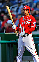 2 April 2011: Washington Nationals third baseman Ryan Zimmerman in action against the Atlanta Braves at Nationals Park in Washington, District of Columbia. The Nationals defeated the Braves 6-3 in the second game of their season opening series. Mandatory Credit: Ed Wolfstein Photo