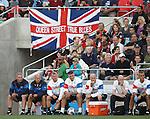 Rangers staff watch on