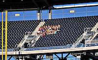 21 June 2010: A group of Washington Nationals fans sit together high in Section 232 during a game against Kansas City Royals at Nationals Park in Washington, DC. The Nationals edged out the Royals 2-1 to take the first game of their 3-game interleague series and snap a 6-game losing streak. Mandatory Credit: Ed Wolfstein Photo