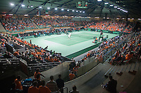 08-05-10, Tennis, Zoetermeer, Daviscup Nederland-Italie, Dubbles Robin Haase and Igor Sijsling  vs Simone Bolelli and Potito Starace overall vieuw of Silverdome