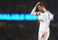 Gylfi Sigurosson of Swansea City looks dejected during the Barclays Premier League match between Manchester City and Swansea City played at the Etihad Stadium, Manchester on December 12th 2015