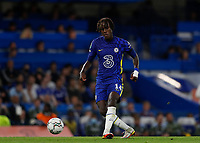 22nd September 2021; Stamford Bridge, Chelsea, London, England; EFL Cup football, Chelsea versus Aston Villa; Trevoh Chalobah of Chelsea passing the ball into midfield