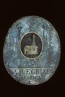 Europe/France/Auverne/63/Puy-de-Dôme/Parc Naturel Régional du Livradois-Forez/Thiers: Le musée des couteliers - Enseigne de coutellerie XVIIIème siècle