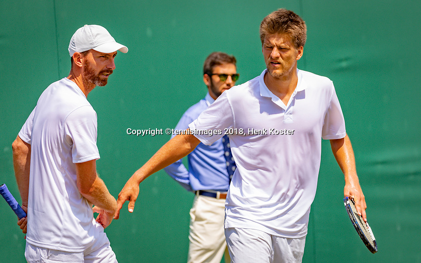London, England, 6 th. July, 2018, Tennis,  Wimbledon, Men's doubles: Sander Arends (NED) and Matwe Middelkoop (NED) (L)<br /> Photo: Henk Koster/tennisimages.com