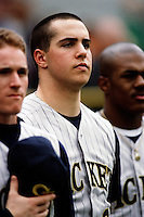 Mark Teixeira of the Georgia Tech Yellowjackets during a game against the UCLA Bruins at Jackie Robinson Stadium during the 1999 season in Los Angeles, California. (Larry Goren/Four Seam Images)