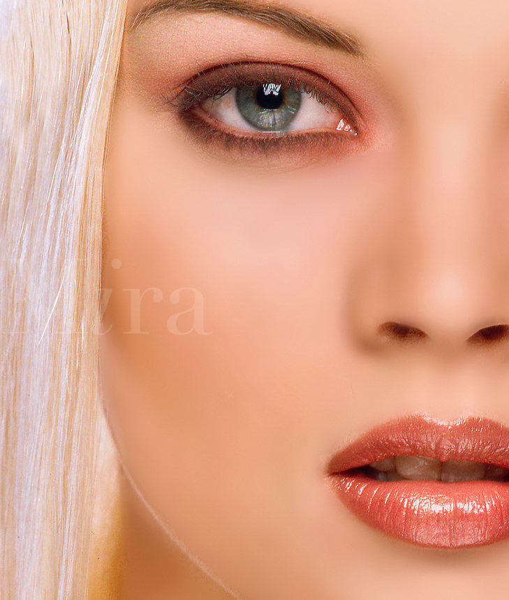 Close-up of a womans face.