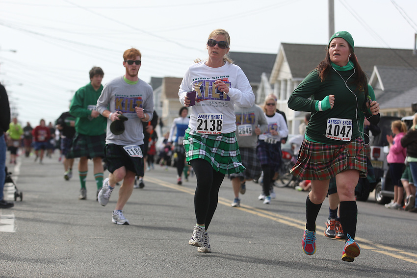 Jersey Shore Kilt Run photos: more than 3,000 try to break Guinness record for world's largest kilt race and raise money for Squan Strong, a Manasquan- based community group that helps raise money for Hurricane Sandy relief.<br /> <br /> In order to break the Guinness record for world's largest kilt race, he needed to sign up 2,000 participants, intrepid runners and walkers willing to trek 2 miles through Manasquan in wool skirts.