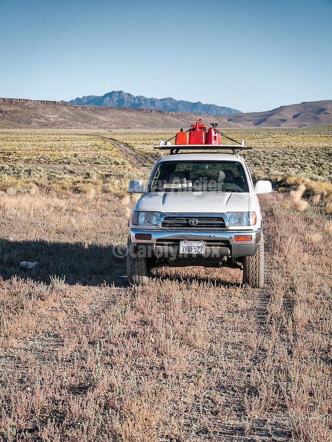 97 Toyota 4runner on a little-used dirt road, a road less taken, to Lunar Crater, Nev.